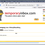 Add-on Temporary Inbox