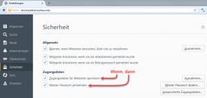 Firefox Einstellungen Sicherheit