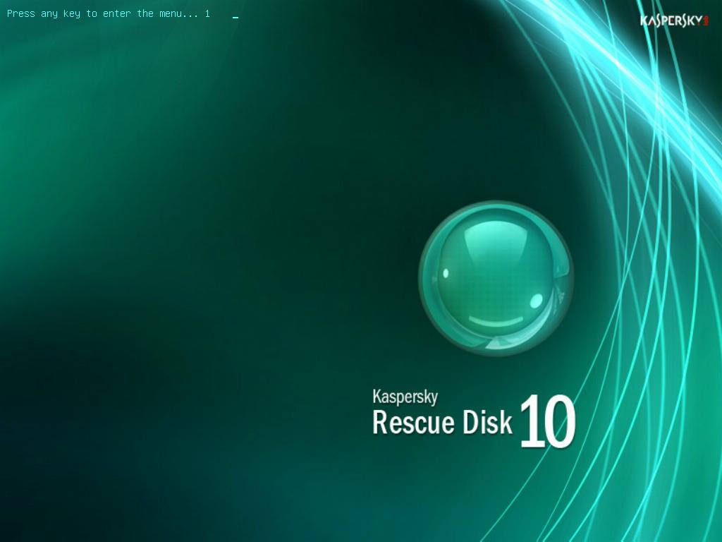 Kaspersky Rescue Disk - Startbildschirm