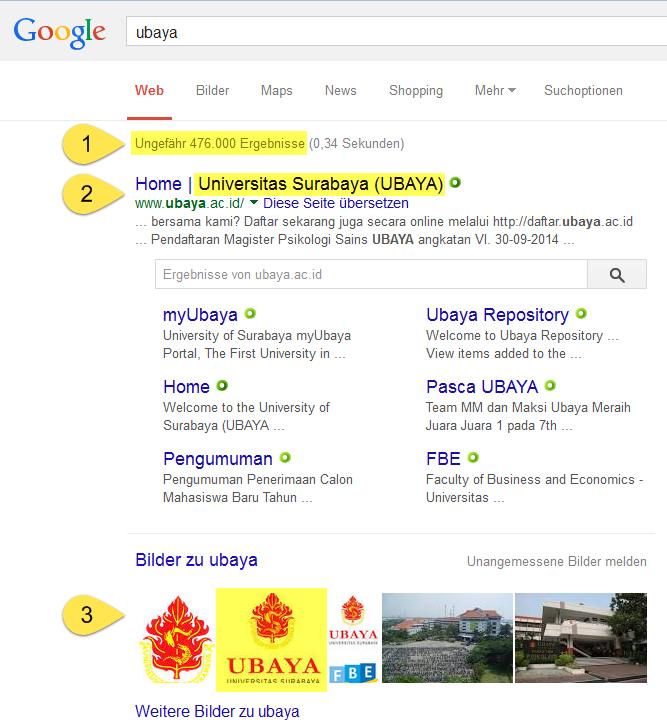 Google Domainname-Suche